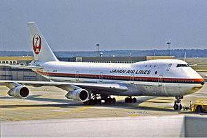 Japan Airlines Flight 404 - Image: Japan Airlines Boeing 747 200B Manteufel