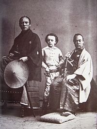The son of Nadar, photographed with members of the Second Japanese Embassy to Europe in 1863. Photographed by Nadar.