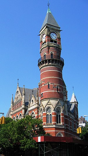 Jefferson Market Library - Image: Jefferson market crop