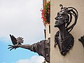 Jelenia Góra - rzeźba - Vahan Bego, Jeleniogórski Szczudlarz - 002.jpg