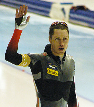 Jeremy Wotherspoon - Jeremy Wotherspoon at a World Cup speed skating event in Heerenveen, Netherlands