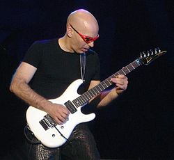 Satriani live on February 4, 2005.