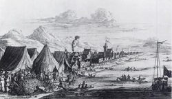 Johan Nieuhof - Pearl Fishery at Tuticorin 1662.png