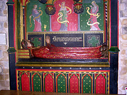 The tomb of John Gower in Southwark Cathedral. For more information click on the picture