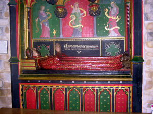 John Gower - The tomb of John Gower in Southwark Cathedral. For more information click on the picture