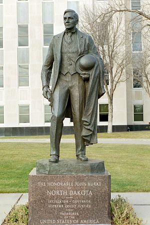 John Burke (politician) - Statue of John Burke at the State Capitol grounds, Bismarck, ND.
