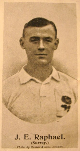 John Raphael (sportsman) - in England rugby jersey