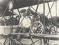 John Robertson Duigan at the Controls of his Biplane, Bendigo Racecourse, Victoria, 3 May 1911.jpg