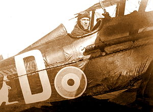 John Rutherford Gordon - Gordon at the controls of his S.E.5a.