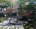 Jones Wood townhouses, East 65th and East 66th Streets between Lexington and Third Avenues, New York, New York. North terrace fountain.jpg