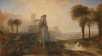 1831 in art - Image: Joseph Mallord William Turner Caligula's Palace and Bridge Google Art Project