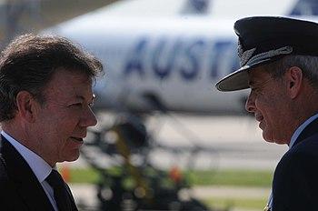 Juan Manuel Santos en Argentina