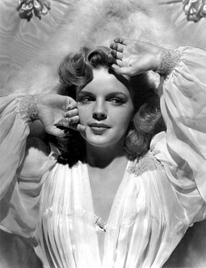 "Presenting Lily Mars - Garland was given the Hollywood ""glamor treatment"" for this role, as seen in this promotional image for the film."