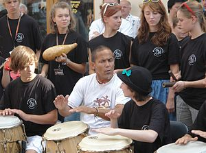 José Torres (musician) - Performing with young musicians in Żagań, August 2010