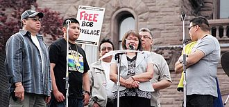 "Kitchenuhmaykoosib Inninuwug First Nation - The ""KI6"" - leaders imprisoned for their protests over mining on traditional Kitchenuhmaykoosib Inninuwug land"