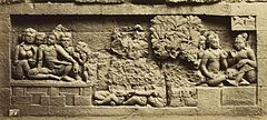 KITLV 40085 - Kassian Céphas - Relief of the hidden base of Borobudur - 1890-1891.jpg