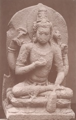 KITLV 87693 - Isidore van Kinsbergen - Sculpture of Vishnu at Wonosobo - Before 1900.tif