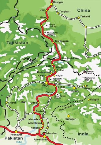 Sust - Overview of the Karakoram Highway