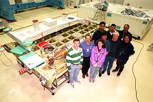 Integrated cargo carrier - Astronauts and technicians give a sense of scale to the ICC