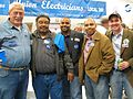 KY Bill Ehlers (LIUNA 576), Lawrenece Winburn Sr. (LIUNA 576), Kevin Winburn (UAW 862), Lawrence Winburn Jr. (LIUNA 576), Dave Sueholtz (Union Attourney) (2991783187).jpg