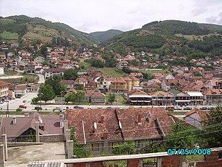 Town and municipality in District of Ferizaj, Kosovo