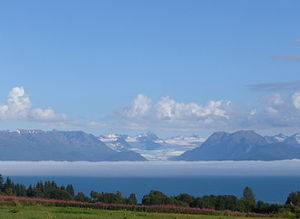 Kachemak Bay - Fog bank over Kachemak Bay