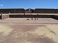 Templete semisubterráneo de Kalassasaya en Tiwanaku