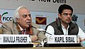 "Kapil Sibal addressing at the inauguration of the Roundtable Conference on ""National Postal Policy 2012"", in New Delhi. The Minister of State for Communications and Information Technology, Shri Sachin Pilot is also seen.jpg"