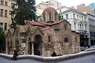 Ermou Street (Athens) - The Byzantine Church of Panaghia Kapnikarea