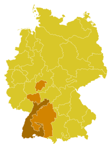 Map of the ecclesiastical province of Freiburg