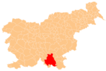 The location of the Municipality of Kočevje
