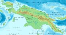 Topografia mapo de Nov-Gvineo