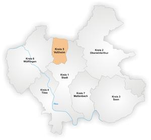 Veltheim (Winterthur) - Image: Karte Winterthur Stadtkreis 5