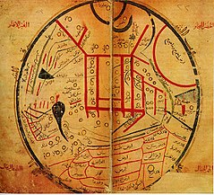 Map from Mahmud al-Kashgari's Diwan (11th century)