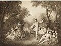 Katalog der Sammlung Baron Königswarter in Wien - II. Abteilung- Gemälde alte Meister. Nicolas Lancret - Der Tanz im Freien (14577365689).jpg