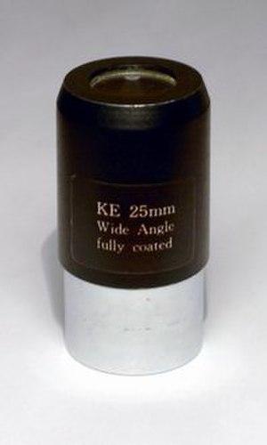 Eyepiece - A 25 mm Kellner eyepiece