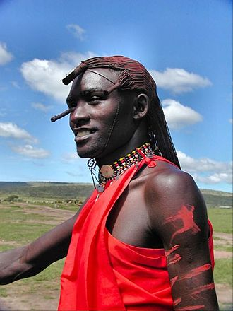 Demographics of Kenya - A Maasai man.