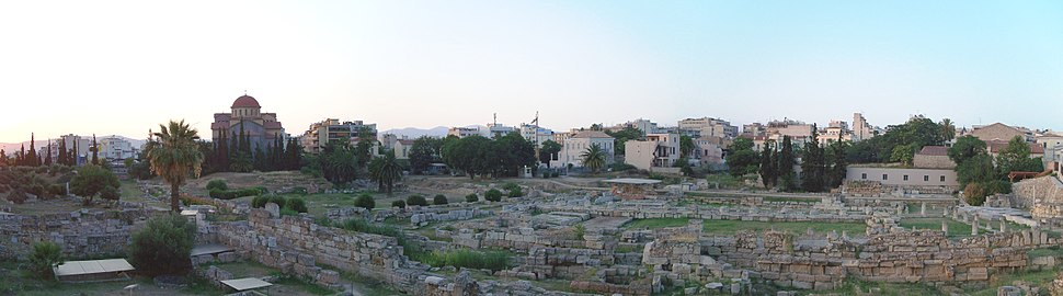 Kerameikos antiquities panorama