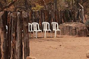 Kgotla - Public meeting place or Kgotla.(Botswana)