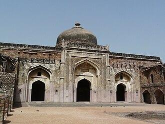 Maham Anga - Khairul Manazil, a mosque opposite Purana Qila, Delhi, built by Maham Anga