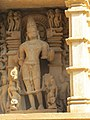 Khajuraho India, Lakshman Temple, Sculpture 03.JPG