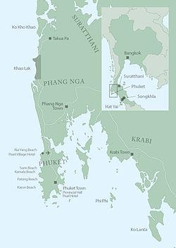 Karta Phuket.Khao Lak Wikipedia