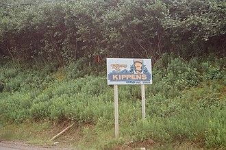 Kippens - Image: Kippens town sign NFLD