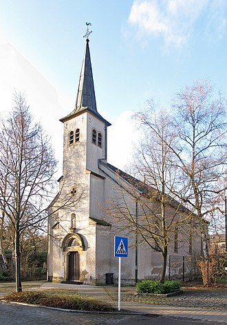 Kirchberg, Luxembourg - Kirchberg's Chapel of Nôtre Dame, Salut des Infirmes, on rue des Maraîchers.