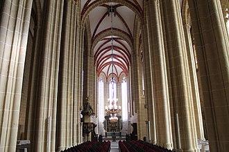 Aus der Tiefen rufe ich, Herr, zu dir, BWV 131 - The Marienkirche, Mühlhausen, whose minister commissioned the cantata