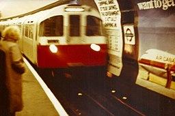 Knightsbridge tube station 1973 Stock