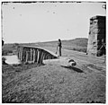Knoxville, Tenn., vicinity. Bridge at Strawberry Plains, 20 miles northeast of Knoxville; camera on tripod at right LOC 6056602079.jpg