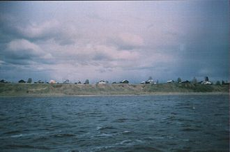 North Russia Intervention - Konetsgorye, view from the Northern Dvina river