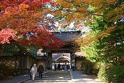 Hojas de otoño (Momiji) en Kongōbu-ji, Monte Koya. Declarado Patrimonio de la Humanidad.