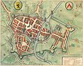 Kortrijk in het Stedeboeck (Novum Ac Magnum Theatrum Urbium Belgicae) - Amsterdam, J. Blaeu, 1649.jpg